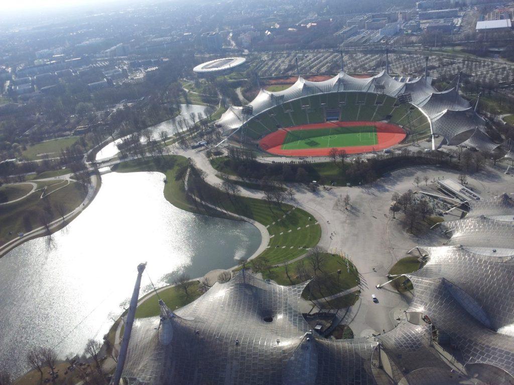 Der Olympiapark von oben.